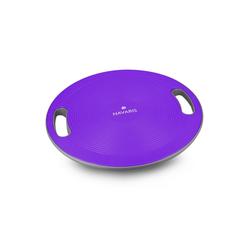 Navaris Balanceboard, Therapiekreisel mit Griff - Therapie Kreisel Stepper - Fitness Reha Balance Kraft Training - Sport Board Ø 40cm lila