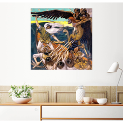 Posterlounge Wandbild, Das Kalevala, Väinämöinen und Louhi 13 cm x 13 cm