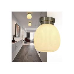 ZMH Deckenleuchte Deckenlampe Glas Weiße Flur E27 Vintage aus Glas Flurlampe Kronleuchter Pefekt für Balkon Wohnzimmer Treppen Korridor 20.3 cm x 20.3 cm x 24.5 cm