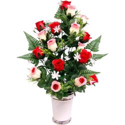 Kunstpflanze Rosen Rosen, I.GE.A., Höhe 65 cm