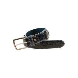 Daniel Hechter Hochwertiger Ledergürtel blau Damen Gürtel Accessoires