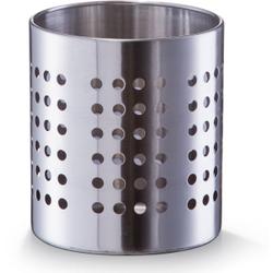 Zeller Küchenutensilienhalter, Ø 12 x 13 cm, Ideal zur Aufbewahrung von Besteck und Küchenutensilien geeignet, Material: Edelstahl