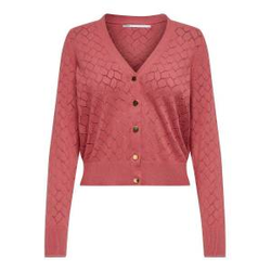 ONLY Gemusterte Strickjacke Damen Rot Female L