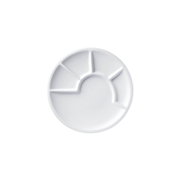 Spring Fondueteller Fondue-Teller 24 cm Keramik weiß