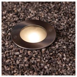LUTEC LED Gartenleuchte Strata Edelstahl rund IP67 320lm