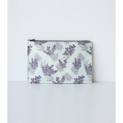 Hanji-Papiertasche Federmäppchen Kosmetiktasche - Lila/Lavendel - aus traditionellem Hanji-Papier - mit Reißverschluss