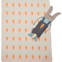 David Fussenegger Set Decke in der Puppe Hase weiß 70 x 90 cm