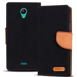Handy Tasche für Wiko Freddy Hülle Wallet Jeans Case Schutzhülle