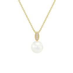 Goldene Perlenkette mit Diamanten Alixa