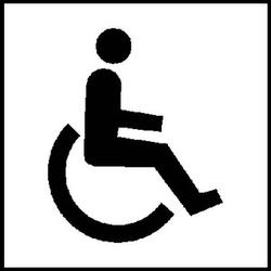 SafetyMarking® Hinweisaufkleber - WC Behinderten