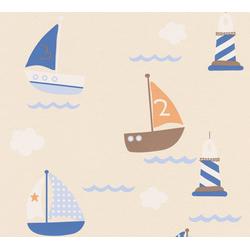 A.S. Création Papiertapete Boys & Girls 6 mit Segelbooten, geprägt, Meer