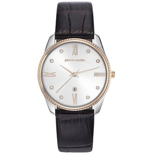 PIERRE CARDIN Damen Analog Quarz Uhr mit Leder Armband PC107572F04