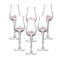 6 x Fassbind Kelch-Glas