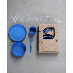 ajaa! Geschirr-Set ajaa! Geschirr-Set 4-teilig, made in germany, spülmaschinengeeignet, bruchsicher blau
