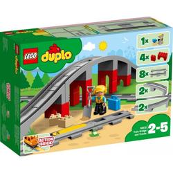 LEGO® Puzzle LEGO® DUPLO® 10872 Eisenbahnbrücke und Schienen, 26 Teile, Puzzleteile