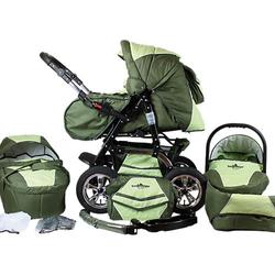 Kombi Kinderwagen Milano, 10 tlg., dark green grün