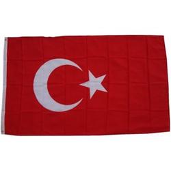 XXL Flagge Türkei 250 x 150 cm Fahne mit 3 Ösen 100g/m² Stoffgewicht