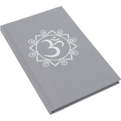 Guru-Shop Tagebuch Notizbuch, Tagebuch - OM grau