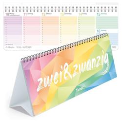 Häfft Tischkalender Tischkalender 2022 mit Aufsteller bunt