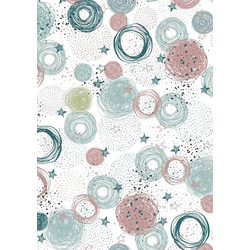 VBS Transparentpapier Transparentpapier Stars & Dots, 50 x 60 cm