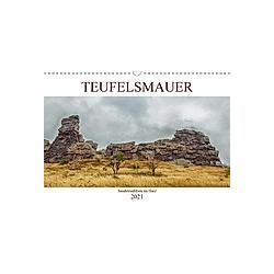 Teufelsmauer - Sandsteinfelsen im Harz (Wandkalender 2021 DIN A3 quer)