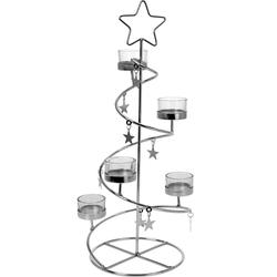 Teelichtspirale STAR Teelichthalter Weihnachtsdeko Kerzenhalter Weihnachten Advent 45 cm