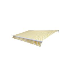 MCW Gelenkarmmarkise MCW-E49 Inklusive Volant, UV-Schutz 50 gelb