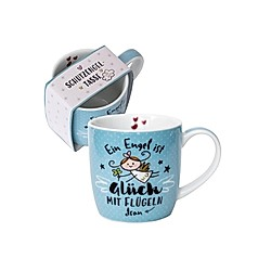 Happy Life 45734 Tee-Tasse Schutzengel  mit Geschenk-Banderole