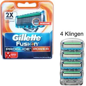 Gillette Fusion Proglide Power 4er Set Rasierklingen Klingen Blister