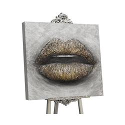 YS-Art Gemälde Sinnlicher Kuss I GLM001