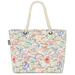 VOID Strandtasche (1-tlg), Reisepass Stempel Beach Bag Siegel Visum Fliegen Flughafen reisen japan Urlaub