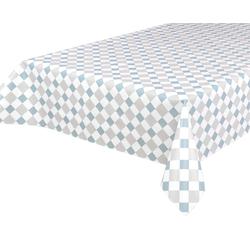 Beautex Tischdecke Wachstuchtischdecke, Kacheln blau, abwischbar Wachstuch Garten Tischdecke ECKIG RUND OVAL, Größe wählbar (1-tlg) Oval - 140 cm x 200 cm