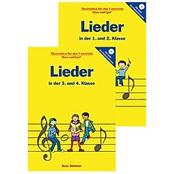 Lieder in der 1. und 2. Klasse / Lieder in der 3. und 4. Klasse  2 Bde. m. 2 Audio-CDs. Anja Stettner  - Buch