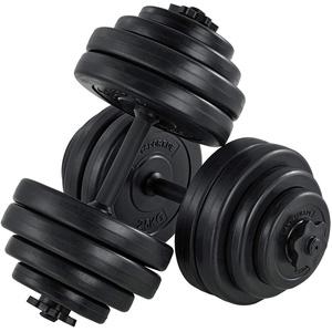 ArtSport Hantelset 30kg   Kurzhantel Set mit 2 Kurzhanteln 25 mm gerändelt, 16 Gewichte und Sternverschlüsse   Kurzhantelset Hantel Kunststoff