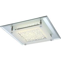 LED Deckenleuchte, Chrom, Kristall, LED 12 Watt, 1300 Lumen