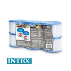 Intex Pool-Filterkartusche 6x Whirlpool Filterkartusche Typ S1, PureSpa
