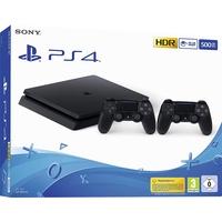 Sony PS4 Slim 500GB schwarz + 2x DualShock 4 Wireless Controller