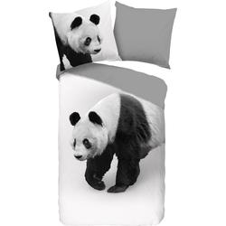 Wendebettwäsche Panda, PURE luxury collection, mit Pandabären