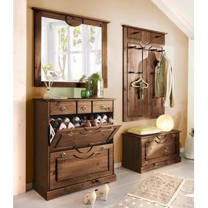 Home affaire Garderoben-Set Klera, (Set, 4 St.) braun Garderoben-Sets Garderoben