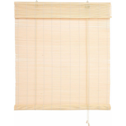Seitenzugrollo Bambus, Liedeco, Lichtschutz, Bambusrollo natur 100 cm x 160 cm