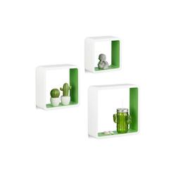 relaxdays Wandregal Hängeregal Cube 3er Set