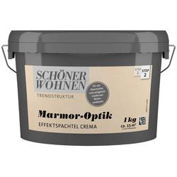 SCHÖNER WOHNEN FARBE Spachtelmasse Marmoroptik Effektspachtel 1,0Kg crema natur