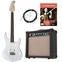 Yamaha Pacifica 012 VW E-Gitarre Set inkl. Amp + Kabel + E-Gitarrenschule Weiß