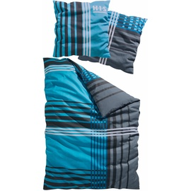 H I S Philip Linon blau 135 x 200 cm + 80 x 80 cm