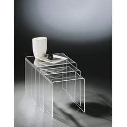 Acryl Dreisatztisch klar Acryl