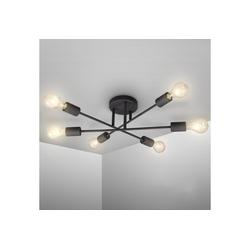 B.K.Licht LED Deckenleuchte, LED Vintage-Leuchte Deckenlampe Retro Industrial E27 schwarz rustikal