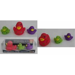 JOKA international LED Ente Badeente 3er Set Badespielzeug, Leuchtende Badeenten