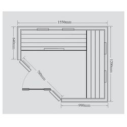 HOME DELUXE Infrarotkabine Redsun XL, BxTxH: 155 x 120 x 190 cm, 50 mm, für bis zu 3 Personen