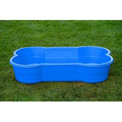 DogsLand Tierkorb DogsLand Hundepool in Knochenform, DogsLand Hundepool in Knochenform - 120 cm, blau