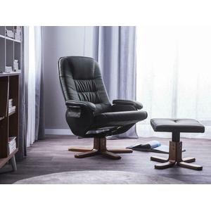 Schöner Leder Massagesessel Fernsehsessel Sessel Wohnzimmer schwarz mit Massage